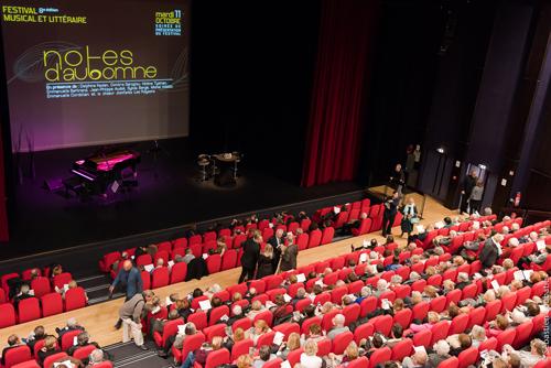 Spectateurs lors de la soirée de présentation Festival Notes d'Automne 2016 au CDBM