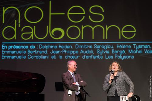 Discours de Gilles Carrez, maire du Perreux et de l'élue à la culture lors de la soirée de présentation Festival Notes d'Automne 2016 au CDBM