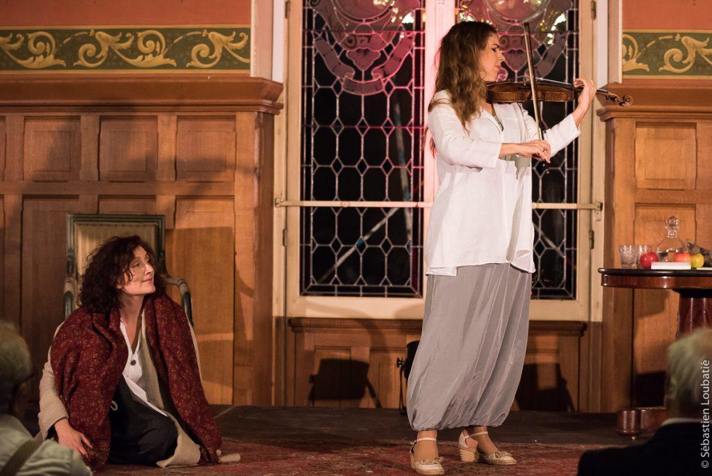 avec Stéphane-Marie Degand (violoniste) et Emmanuelle Cordoliani (comédienne), musique de Bach et texte de Pétrarque