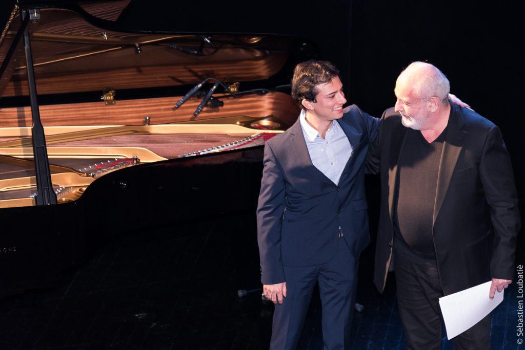 avec Michaël Lipari-Mayer (pianiste) et Michel Violetti (comédien)