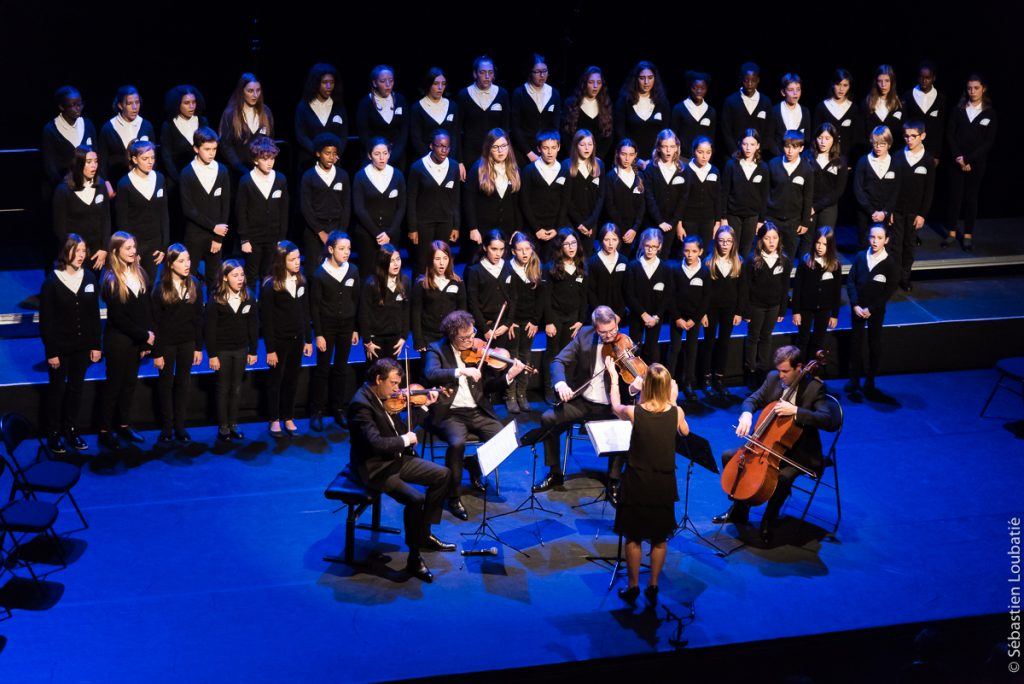 avec Quatuor Debussy et le Choeur d'enfants Les Polysons (direction Elisabeth Trigo)